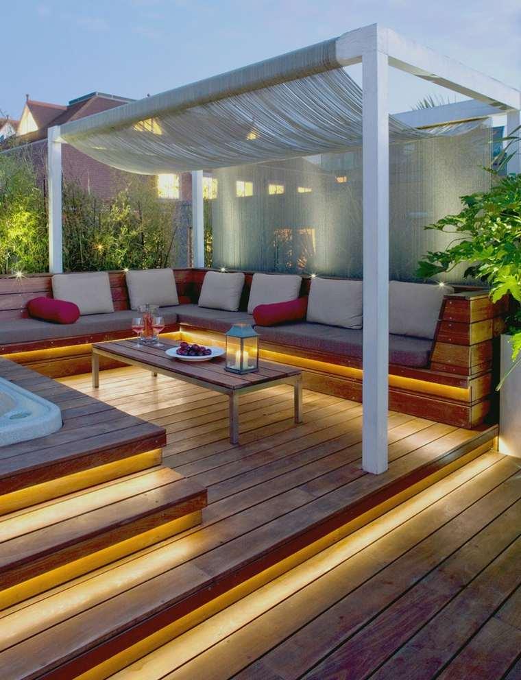 original diseño escalones madera bancos