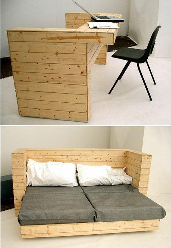 original diseño escritorio palet madera