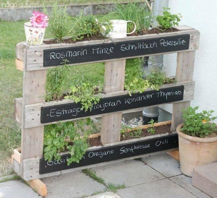estante jardineras pallet madera