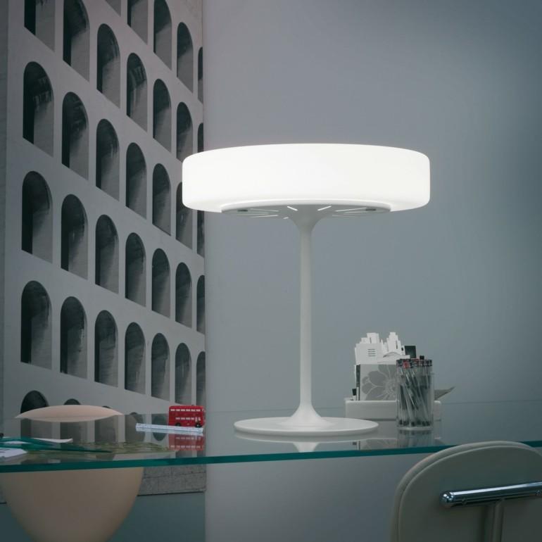 original diseño lampara blanca mesilla