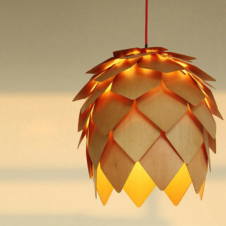 original diseño lampara piña pino
