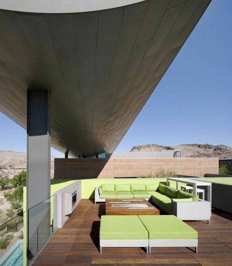 original diseño muebles terraza verdes