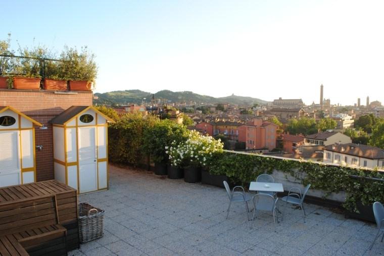 Ideas originales para decorar la terraza 50 im genes - Decorar terraza atico ...