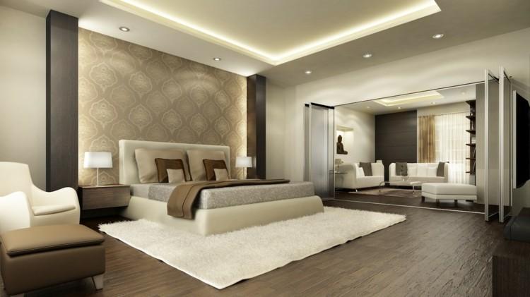 original diseño de moda habitacion tonos neutros