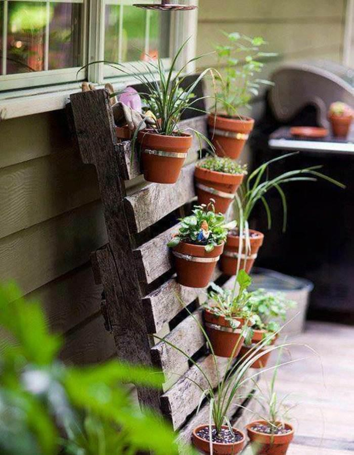 estante colgar jardineras macetas