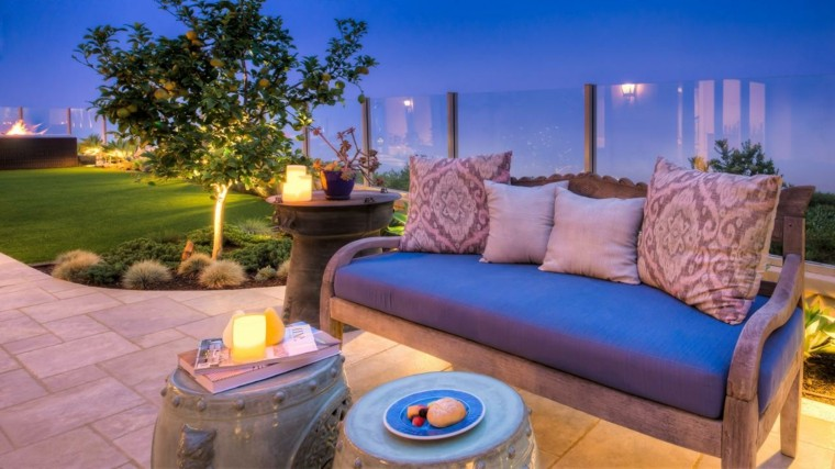 original diseño sofa acolchado jardin