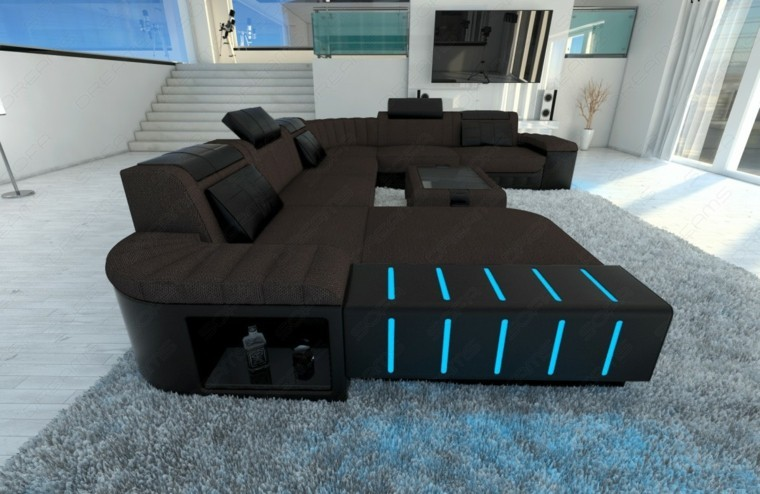 original diseño sofa luces led