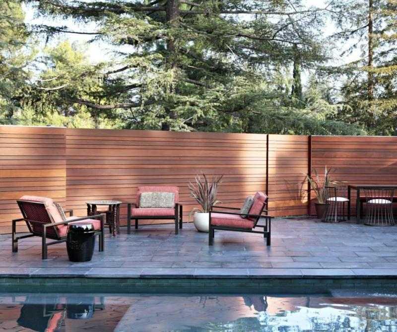 terraza patio valla madera
