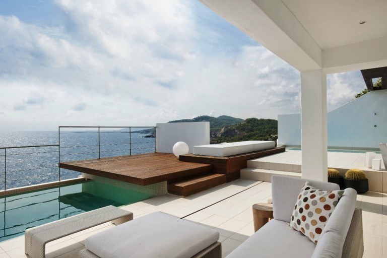 original terraza estilo minimaista moderna