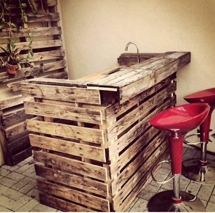 bar cocina pallet madera