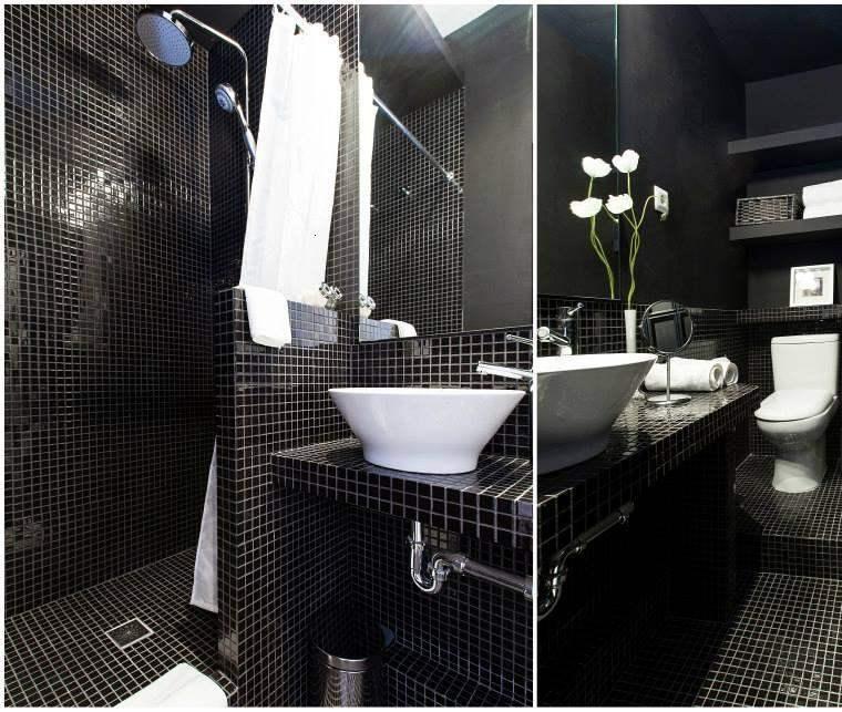 Gresite ba os revestimientos que crean ambientes - Azulejo negro ...