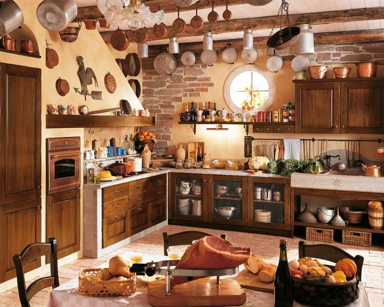Decoraci n de cocinas r sticas 50 ideas originales - Mensole cucina country ...