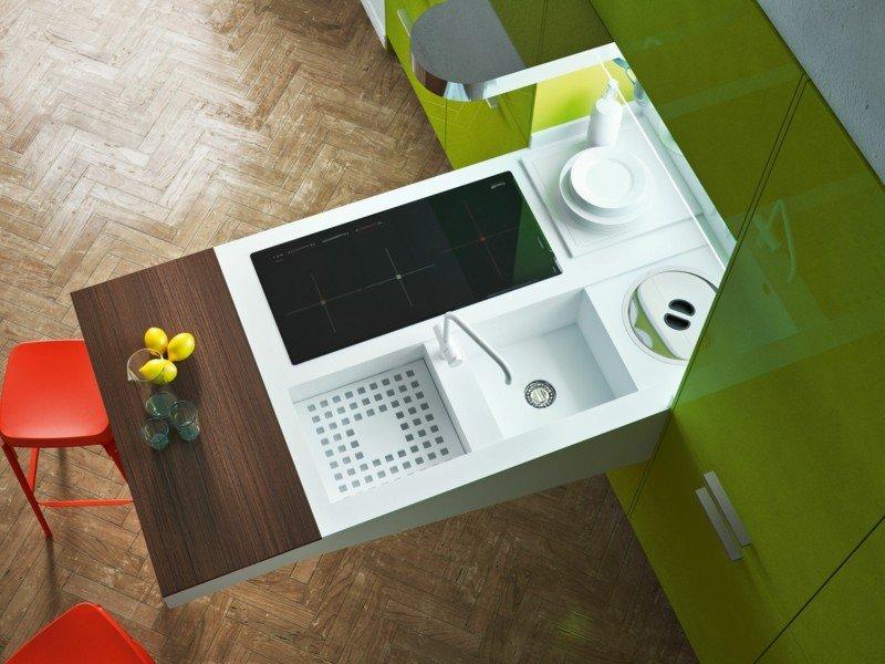 originales diseños mueble cocina Corian
