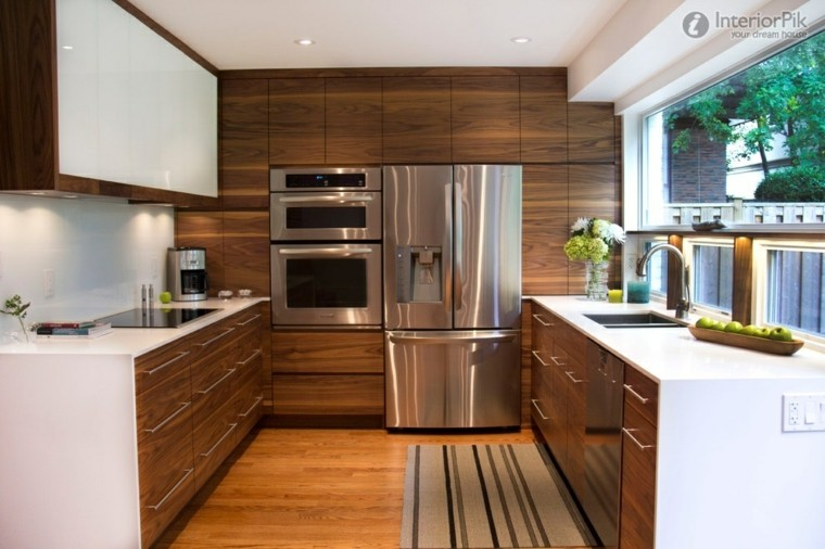 Cocinas peque as en forma de u 38 dise os fant sticos Muebles de cocina en madera mdf