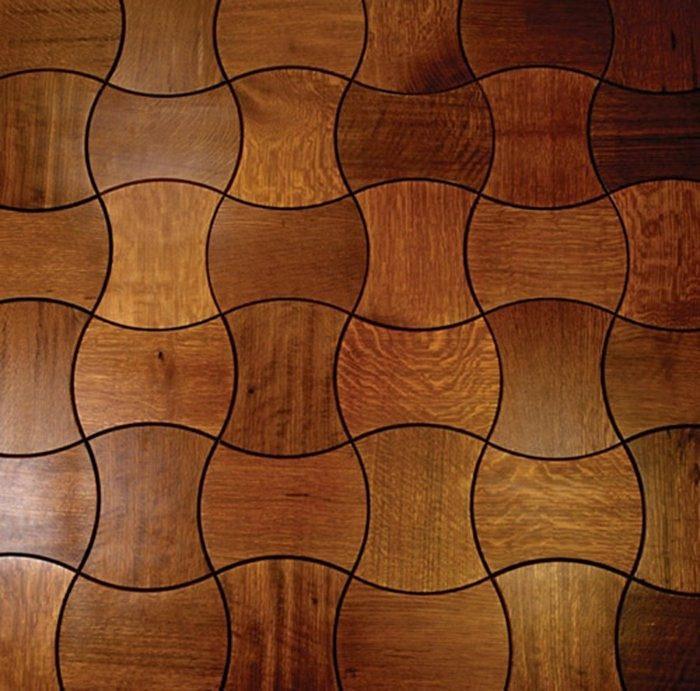 originales baldosas diseño madera ondas