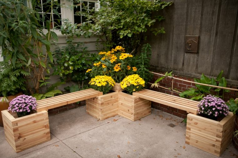 oriognal diseño banco madera