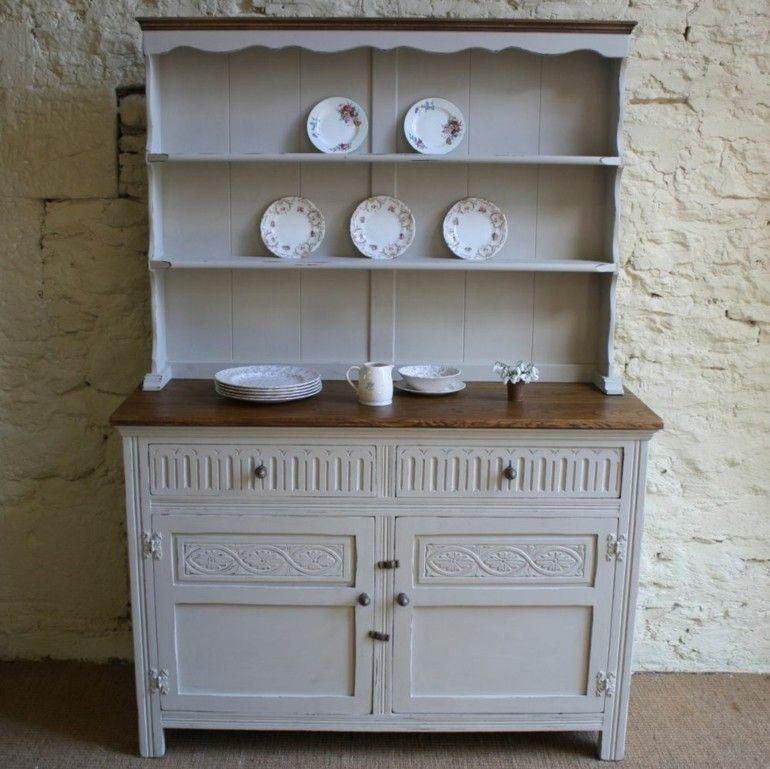 aparador vintage cocian color blanco