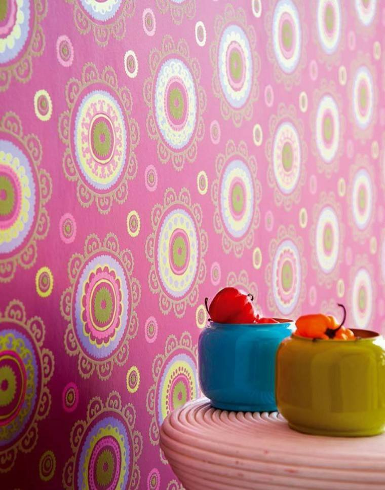 Papel decorativo para la pared con diseño vintage -