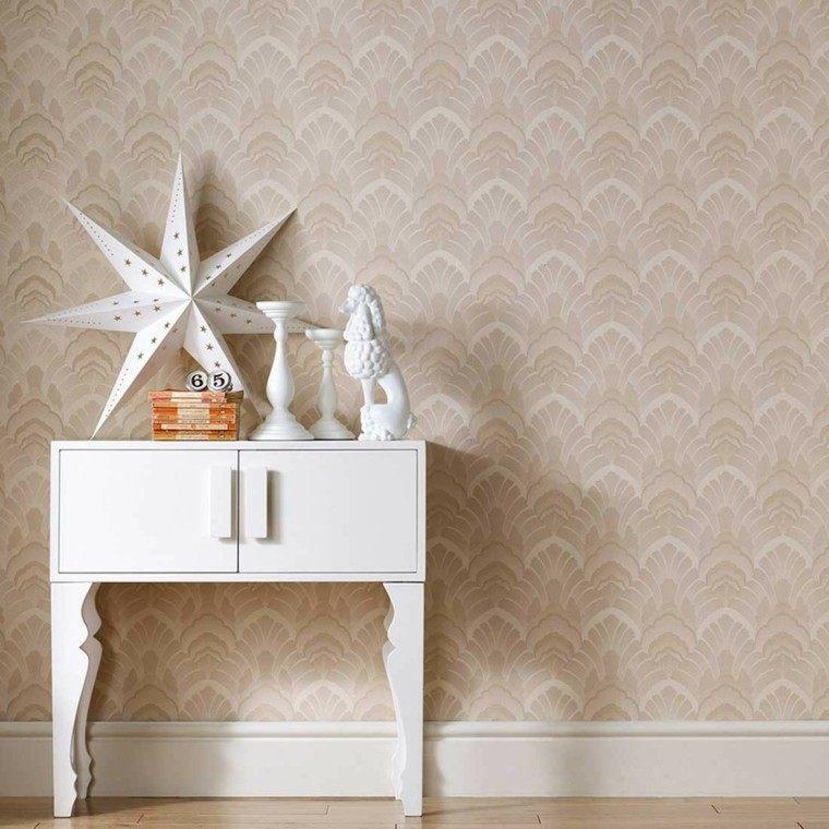 papel pared diseno vintage armario color blanco ideas