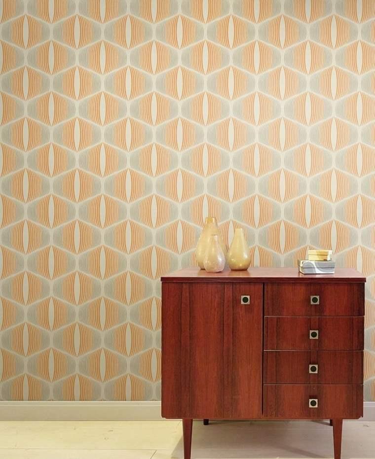 papel pared diseno vintage armario madera ideas
