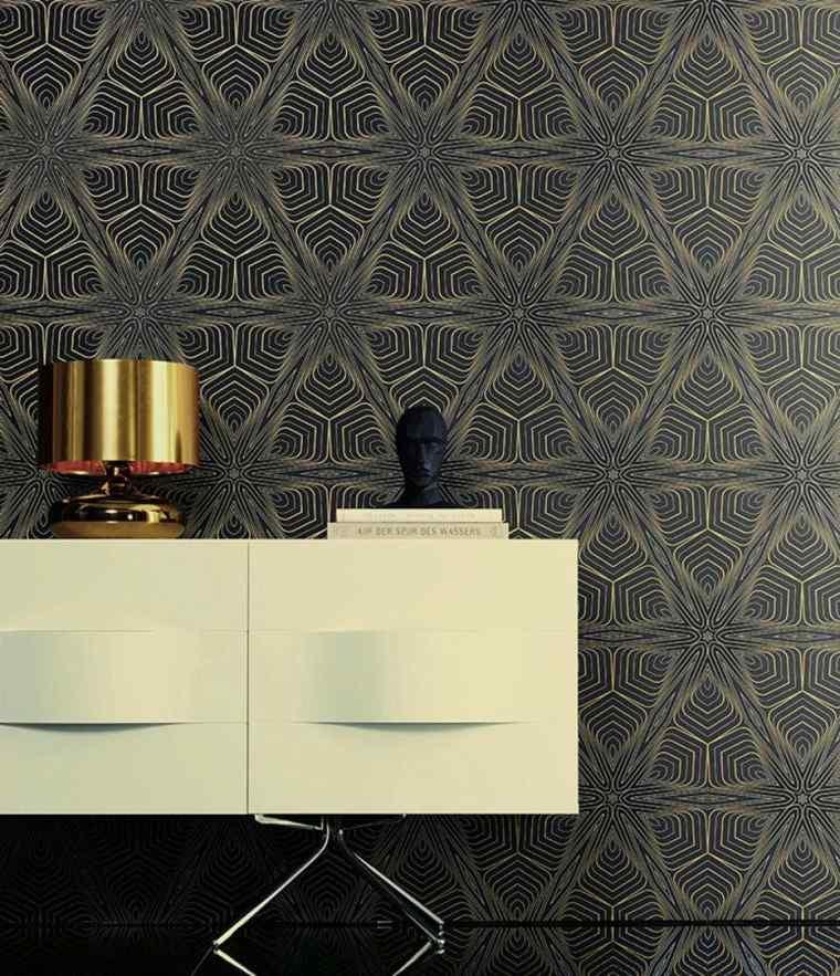 papel pared diseno vintage color negro ideas