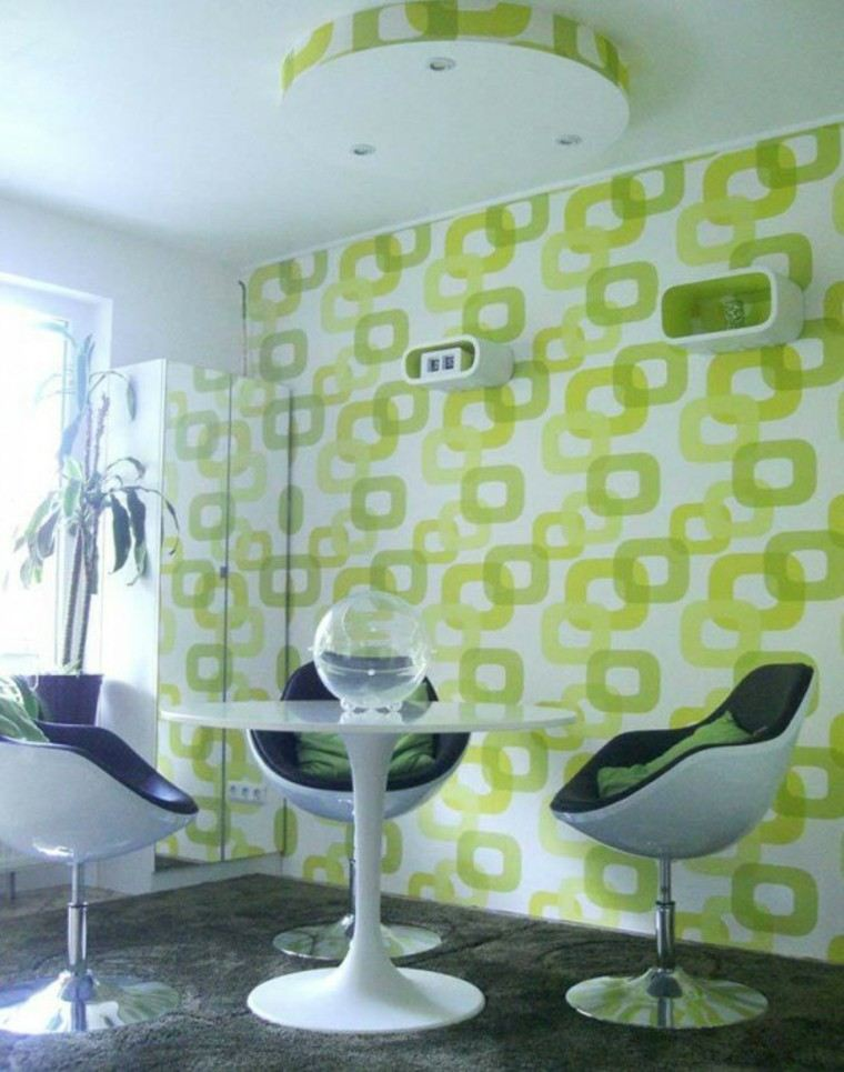 Papel decorativo para la pared con dise o vintage for Muebles diseno vintage