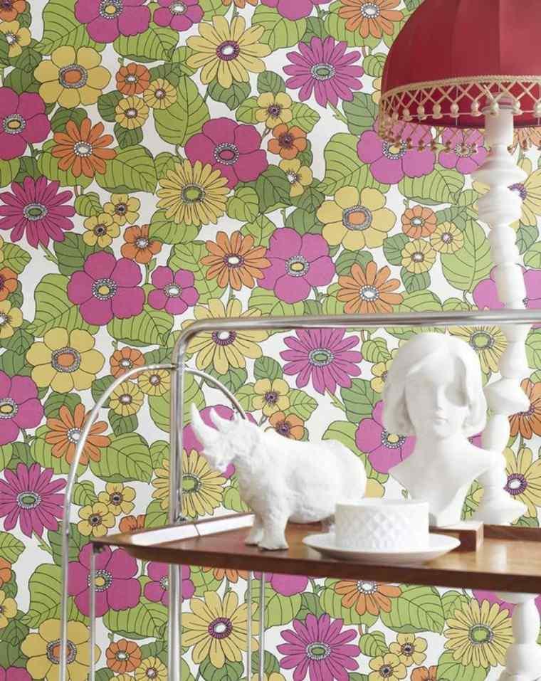Papel decorativo para la pared con dise o vintage - Papel pared vintage ...