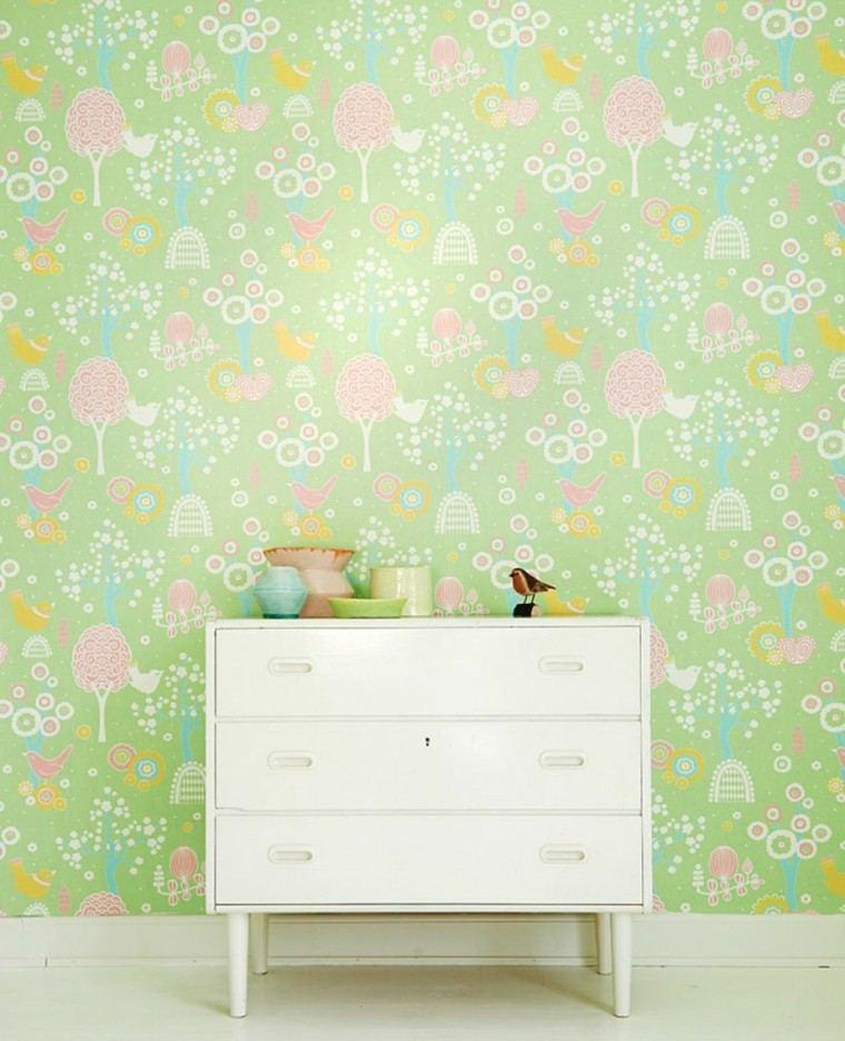 papel pared diseno vintage flores femenino ideas