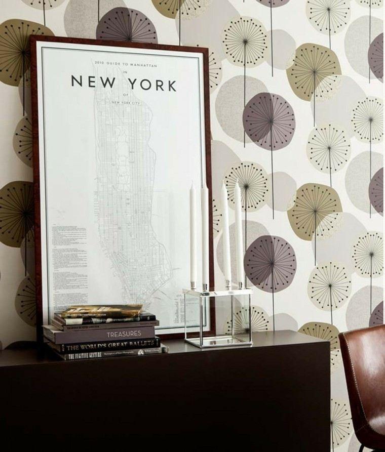 papel pared diseno vintage salon precioso ideas