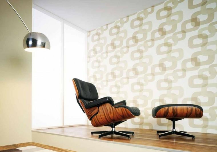 papel pared diseno vintage sillon comodo ideas