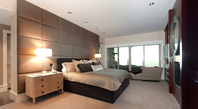 pared diseño de moda dormitorio acolchado