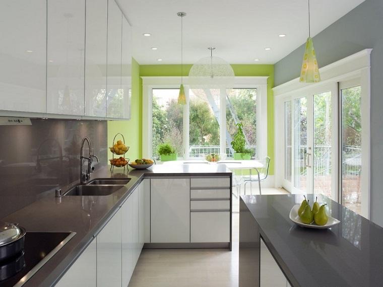 paredes colores preciosos cocina moderna ideas