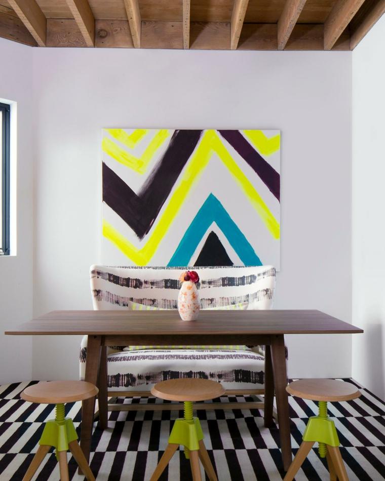 paredes diseños espacios variantes alfombras rustico
