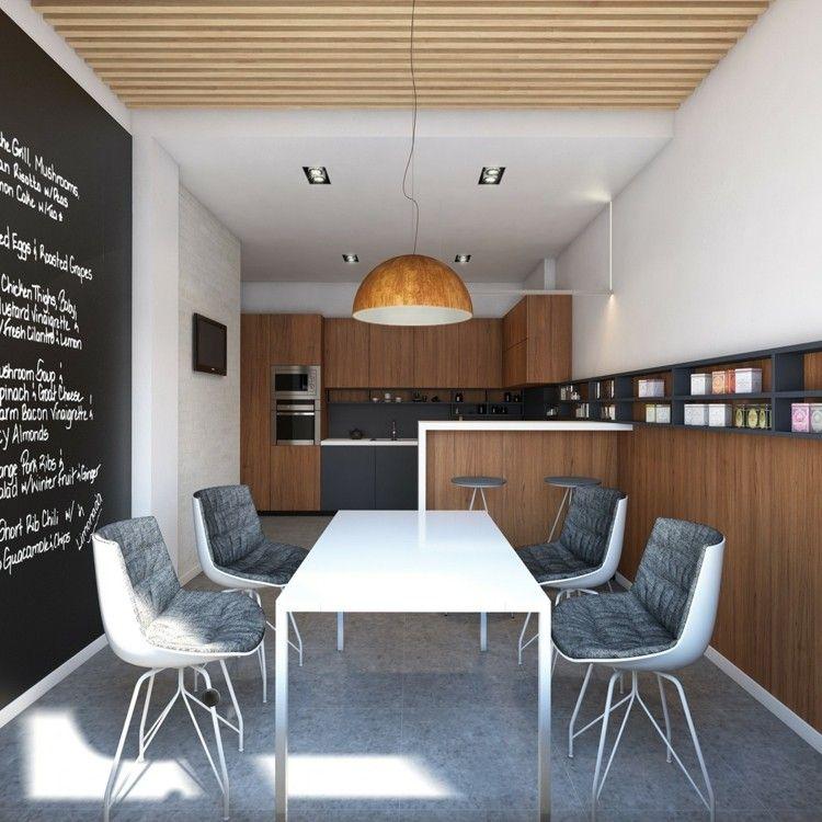 paredes pìzarra cuadros sillones lineas letras