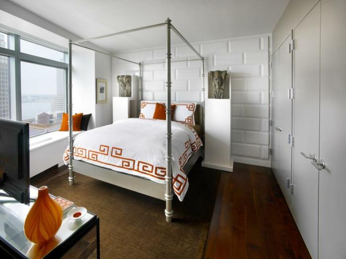 paredes pieles decorado luminosos blanco naranja