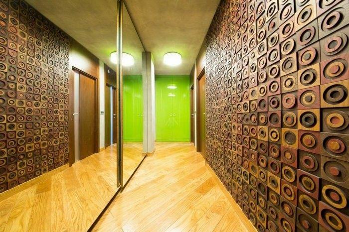 pasillo moderno suelo laminado madera