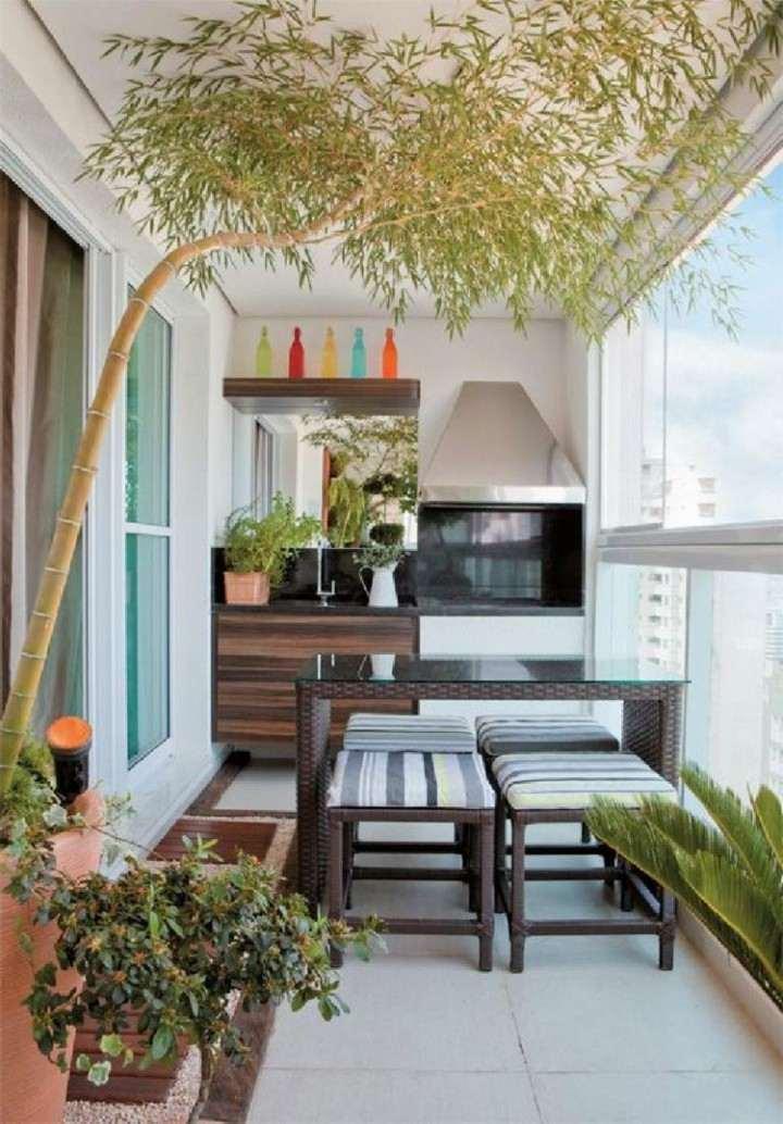 small terrace kitchen dining room minimalism