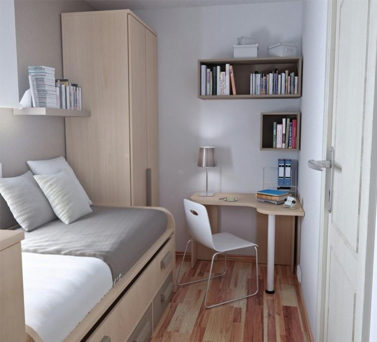 pequeño dormitorio decoración estilo juvenil
