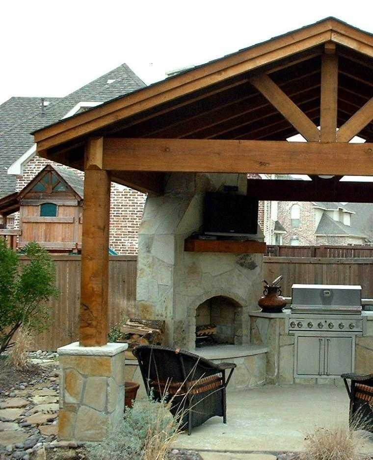 Gazebos y p rgolas ideas interesantes originales y modernas for Jardines con barbacoa