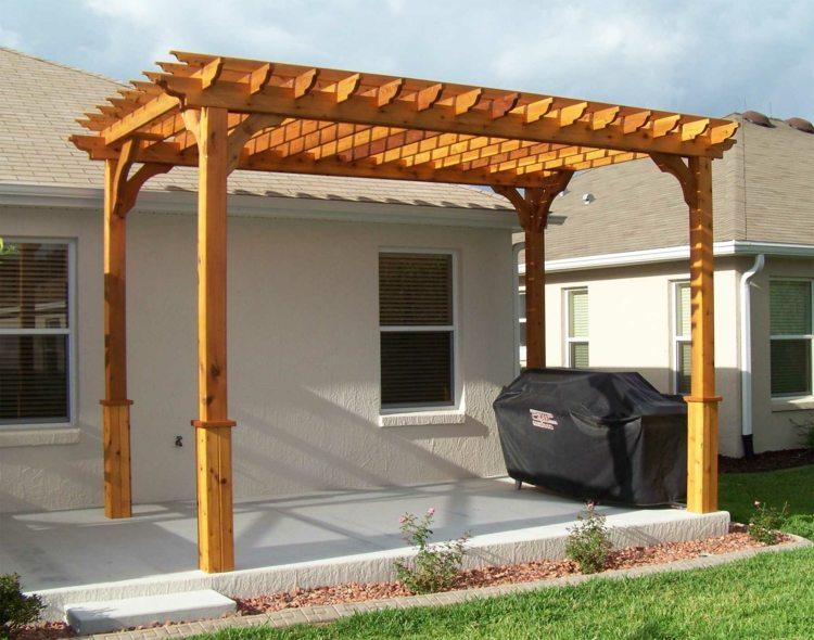 Pergolas de madera 50 creaciones perfectas para tu patio - Techos para pergolas de madera ...