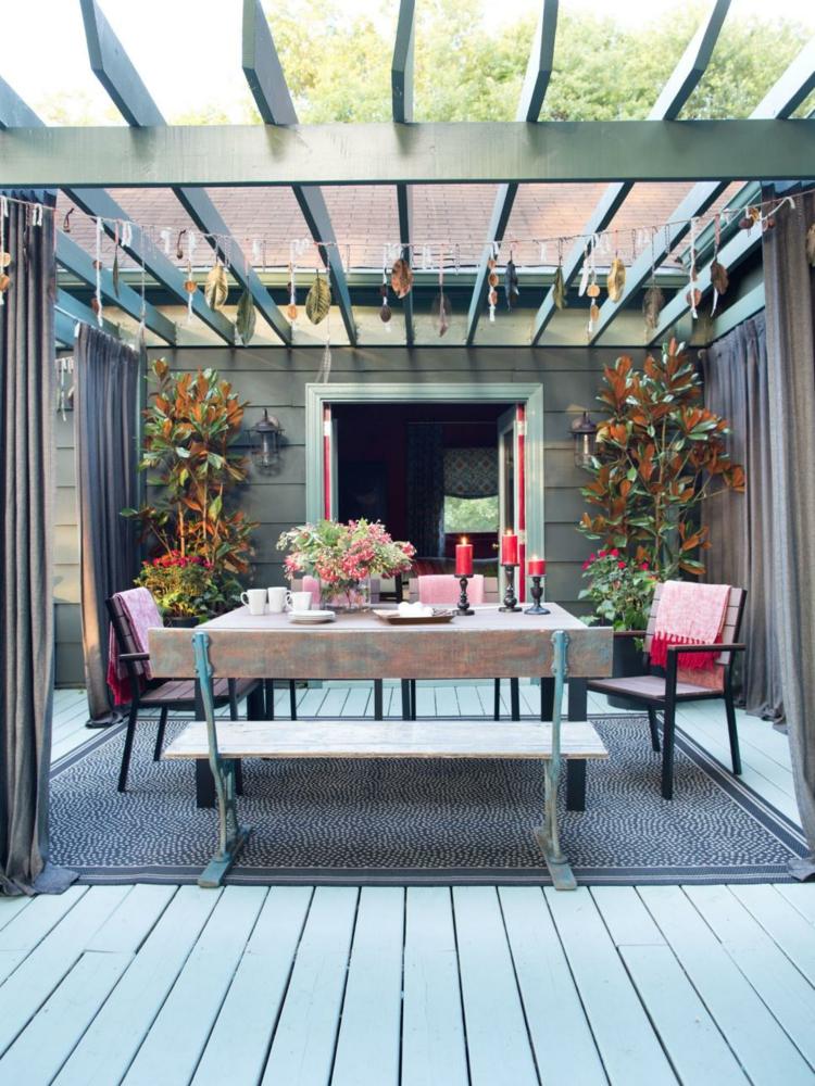 Pergolas de madera 50 creaciones perfectas para tu patio - Pergola de madera ...