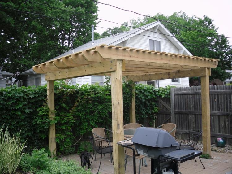 Pergolas de madera 50 creaciones perfectas para tu patio - Terrazas de madera rusticas ...