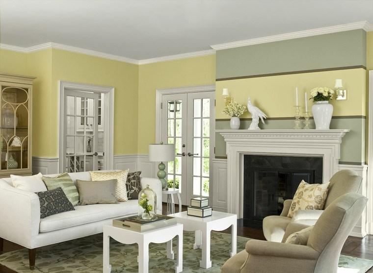 pinturas casas frescas contrastes amarillo muebles