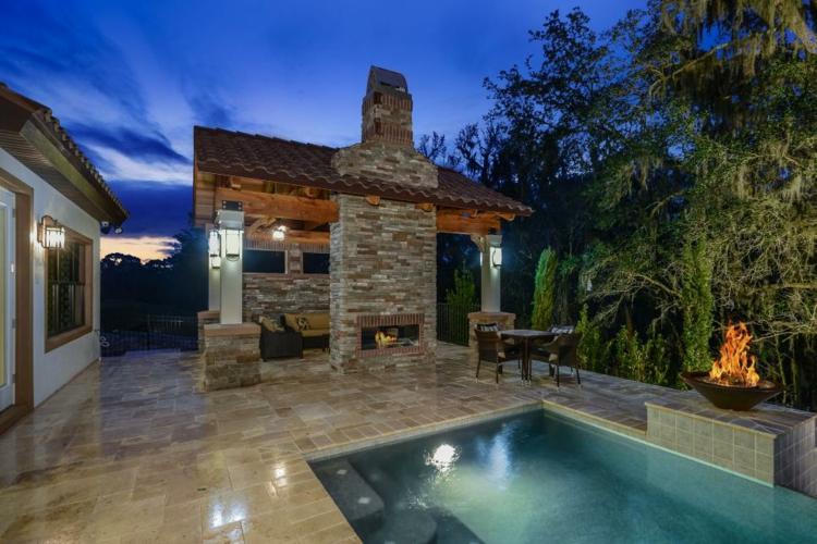 piscina caldera detalles fuego detalles