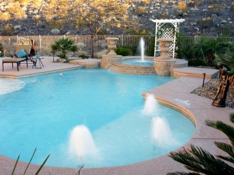 piscina fuentes soluciones ideas blanco
