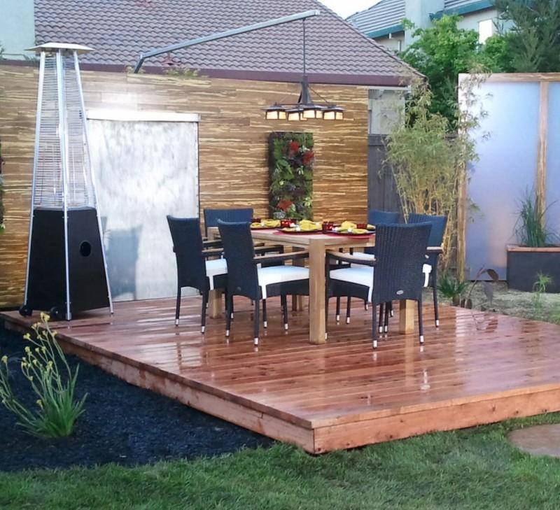 plataforma madera muebles mimbre
