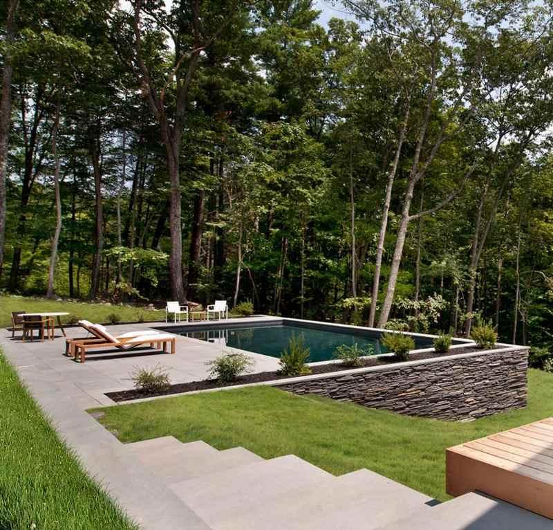 jardin terraza tumbonas madera