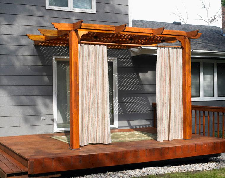 porche tarima pérgola madera