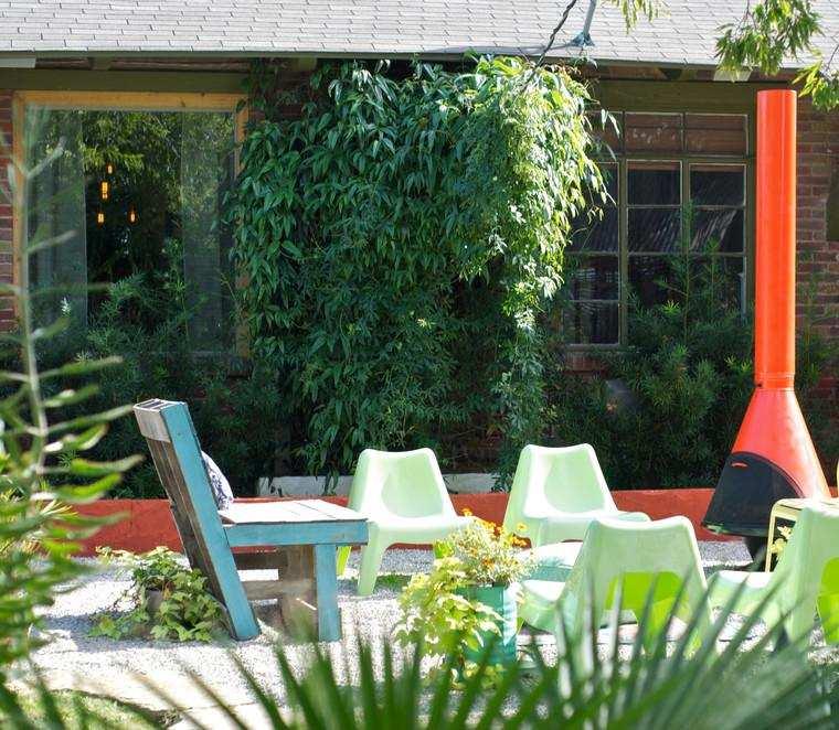 jardín poirche diseño moderno