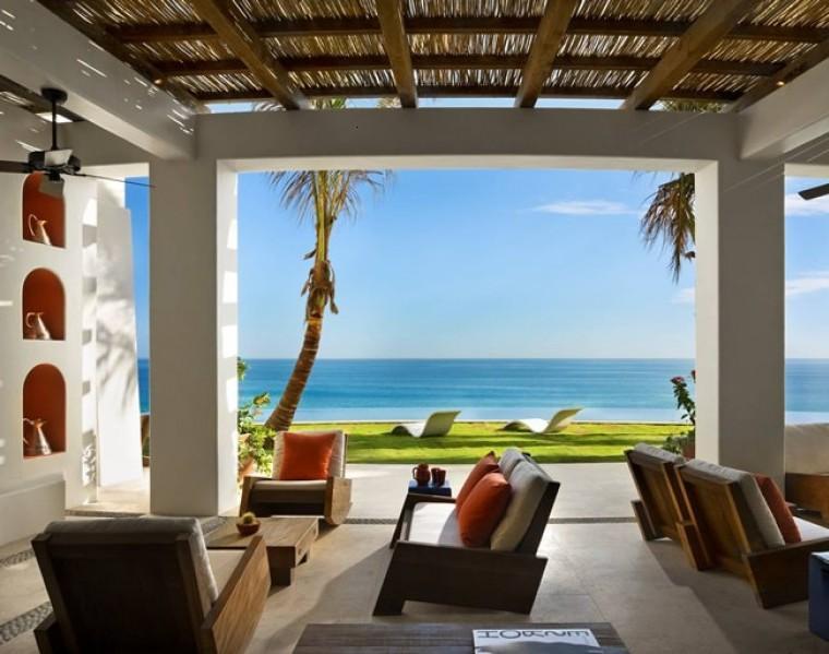 porche tropical estilo lujoso